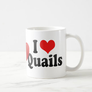 I Love Quails Basic White Mug