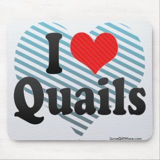 I Love Quails Mouse Mat