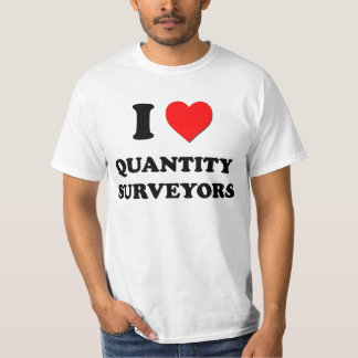 I Love Quantity Surveyors T-Shirt