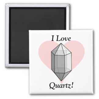 I Love Quartz! Square Magnet