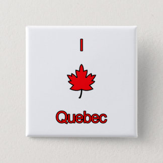 I Love Quebec 15 Cm Square Badge