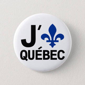 I Love Quebec 6 Cm Round Badge