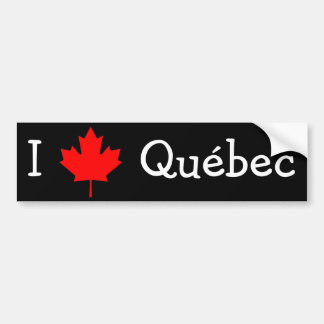 I Love Quebec Bumper Sticker