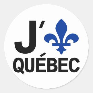 I Love Quebec Classic Round Sticker
