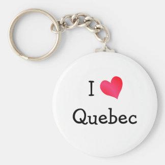 I Love Quebec Key Ring