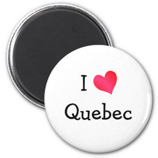 I Love Quebec Magnet