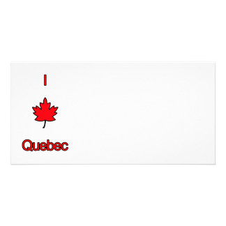 I Love Quebec Photo Card Template