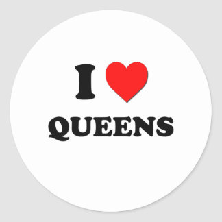 I Love Queens Stickers