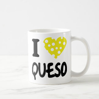 I love queso icon coffee mug