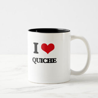 I Love Quiche Two-Tone Coffee Mug