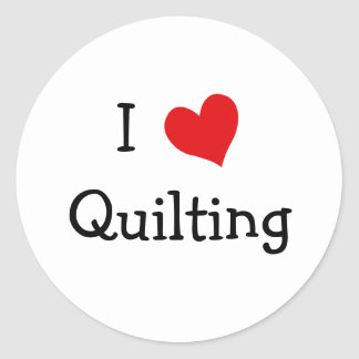 I Love Quilting Classic Round Sticker