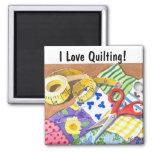 I Love Quilting Fridge Magnet