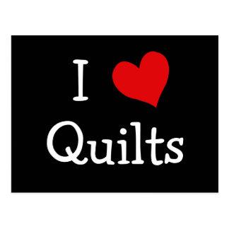 I Love Quilts Postcard