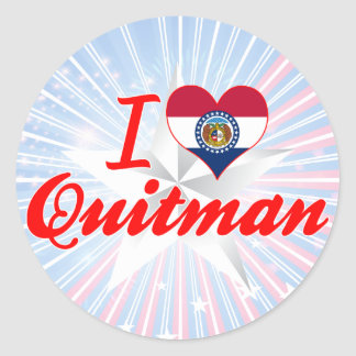 I Love Quitman Missouri Stickers