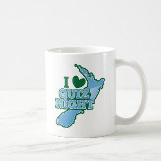 I love Quiz night! New Zealand map Basic White Mug