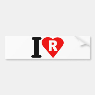 I-LOVE-R BUMPER STICKERS