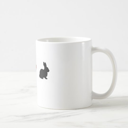 """I Love Rabbits"" Coffee Mug"