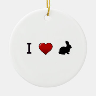 """I Love Rabbits"" Ornament"