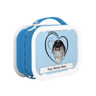 I Love Rabbits Personalised Lunchbox