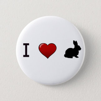 """I Love Rabbits"" Pin"