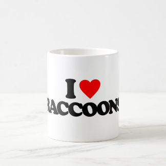 I LOVE RACCOONS COFFEE MUG