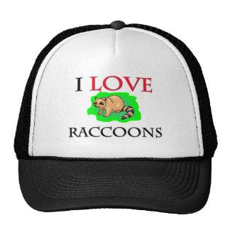 I Love Raccoons Trucker Hats