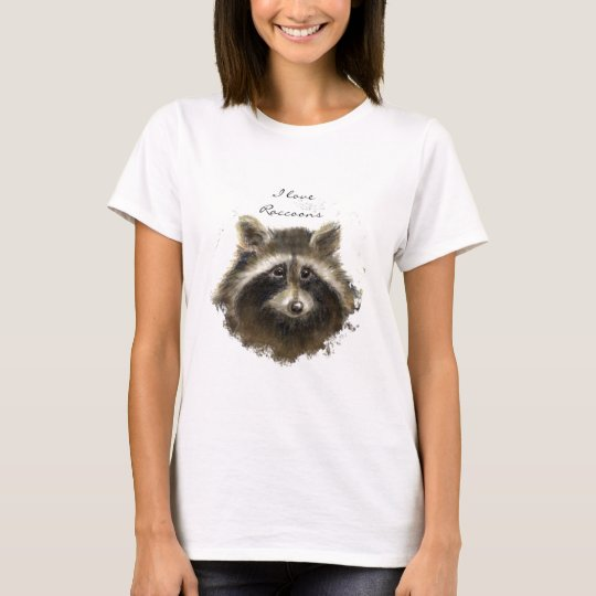 I love Raccoons, Quote , Cute Animal Collection T-Shirt