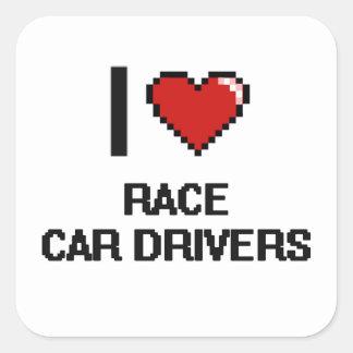 I love Race Car Drivers Square Sticker