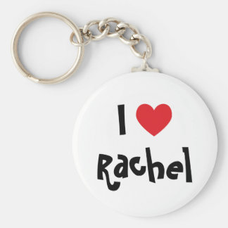 I Love Rachel Basic Round Button Key Ring