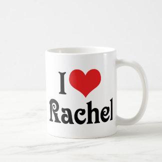 I Love Rachel Basic White Mug