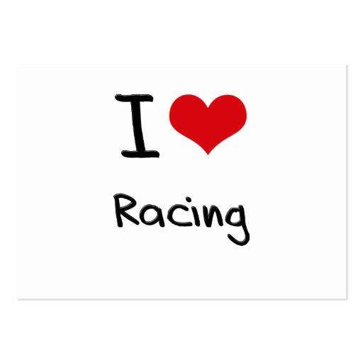I love Racing Business Card Templates