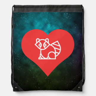 I Love Racoons Icon Backpacks