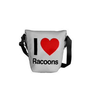 i love racoons courier bags