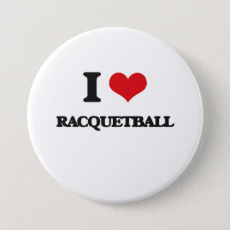 I Love Racquetball 7.5 Cm Round Badge