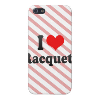 I love Racquets Case For iPhone 5