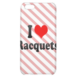 I love Racquets iPhone 5C Covers