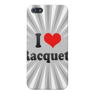 I love Racquets Cover For iPhone 5