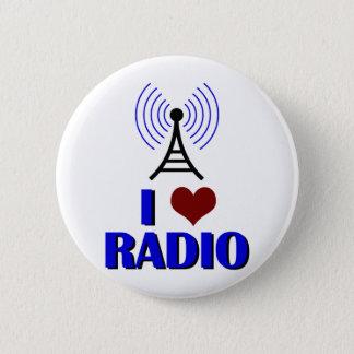 I Love Radio 6 Cm Round Badge