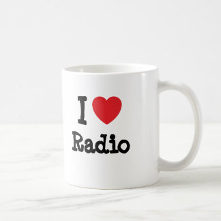 I love Radio heart custom personalized Mugs