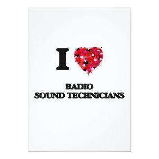 I love Radio Sound Technicians 13 Cm X 18 Cm Invitation Card