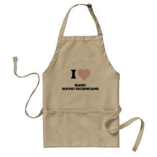 I love Radio Sound Technicians (Heart made from wo Standard Apron