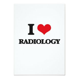 """I Love Radiology 5"""" X 7"""" Invitation Card"""