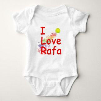 I Love Rafa Tennis Design Baby Bodysuit