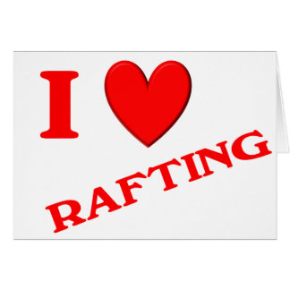 I Love Rafting Cards