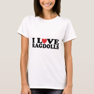 I Love Ragdoll Cats T-Shirt