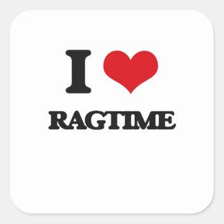I Love Ragtime Square Sticker