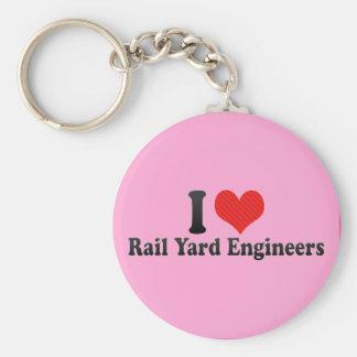 I Love Rail Yard Engineers Key Chain