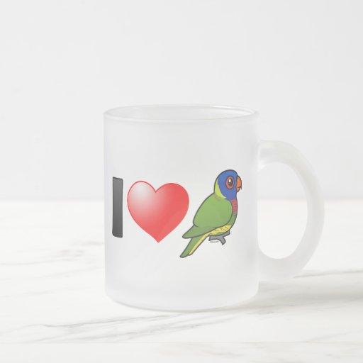 I Love Rainbow Lorikeets Coffee Mugs