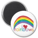 i love rainbows refrigerator magnets