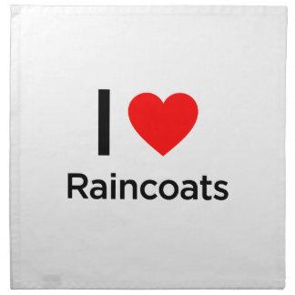 I Love Raincoats Printed Napkins